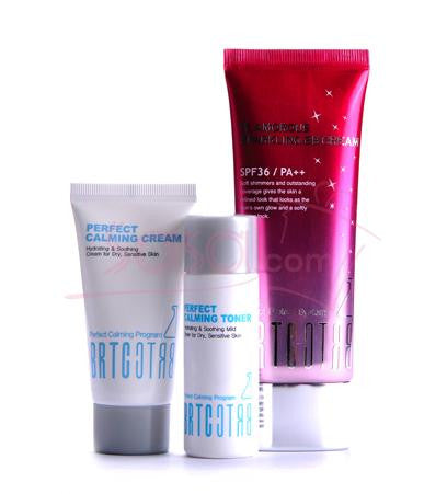 BRTC Glamorous Soothing Set : Glamorous Sparkling BB Cream 60g + 2 Free Gifts(Perfect Calming Toner, Perfect Calming Cream)