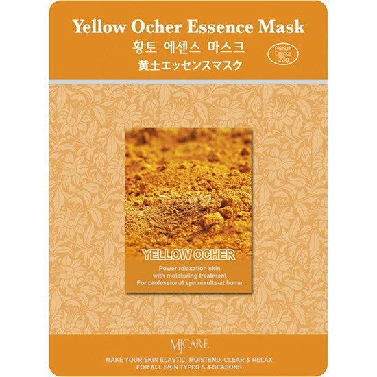 MJ CARE Yellow Ocher Essence Sheet Mask 23g x 10pcs