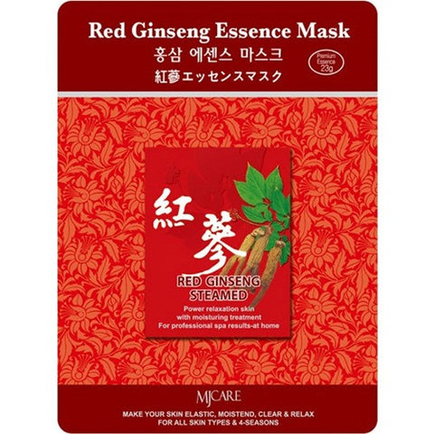 MJ CARE Red Ginseng Essence Sheet Mask 23g x 10pcs