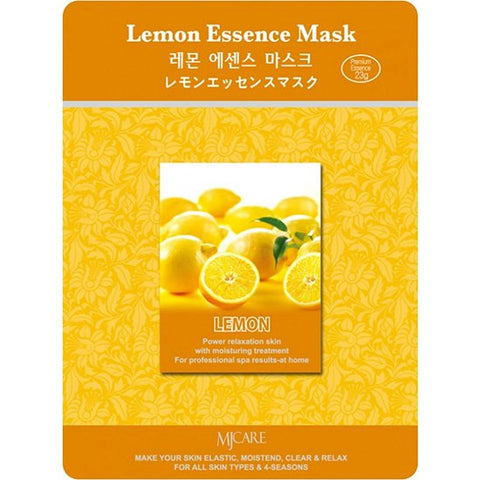 MJ CARE Lemon Essence Sheet Mask 23g x 10pcs
