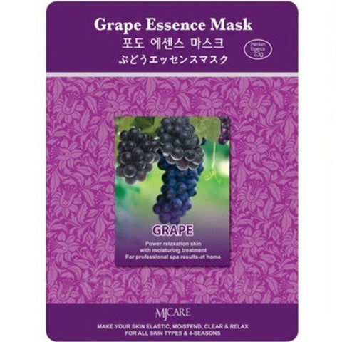 MJ CARE Grape Essence Sheet Mask 23g x 10pcs