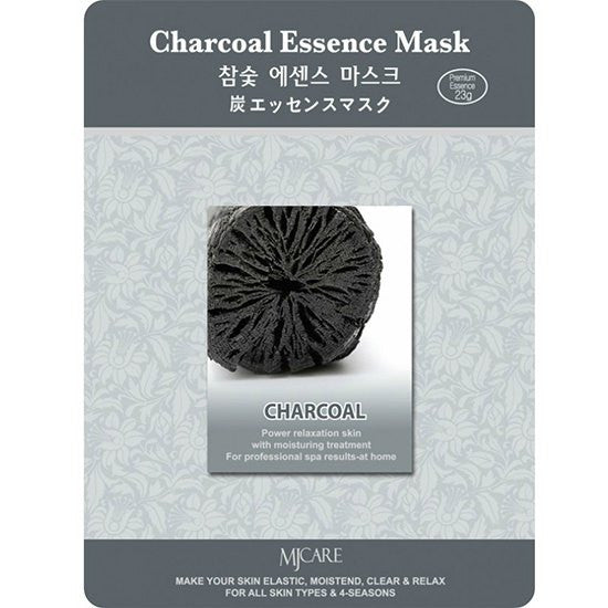MJ CARE Charcoal Essence Sheet Mask 23g x 10pcs