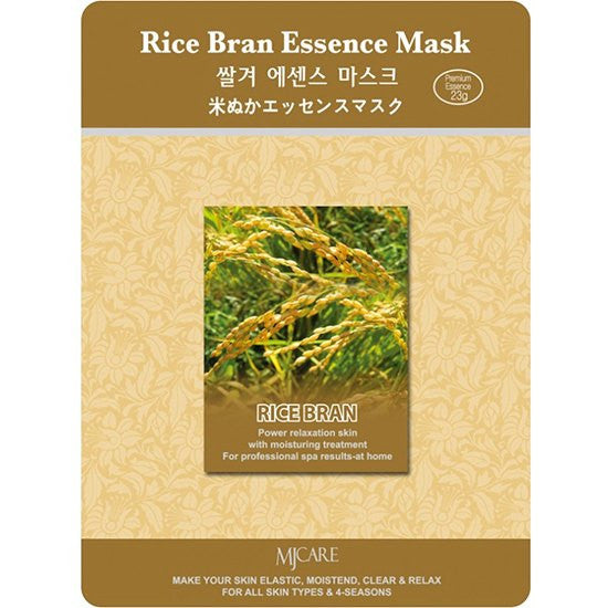 MJ CARE Rice Bran Essence Sheet Mask 23g x 10pcs