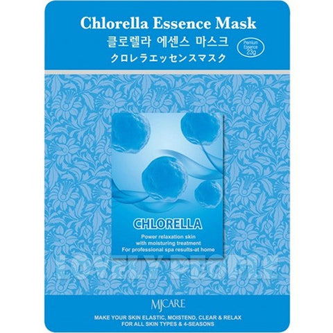 MJ CARE Chlorella Essence Sheet Mask 23g x 10pcs