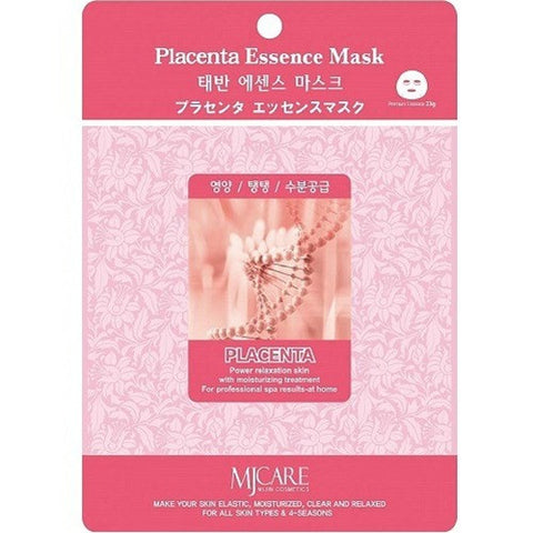 MJ CARE Placenta Essence Sheet Mask 23g x 10pcs