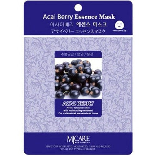 MJ CARE Acai Berry Essence Sheet Mask 23g x 10pcs