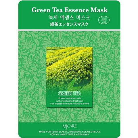 MJ CARE Green Tea Essential Sheet Mask 23g x 10pcs
