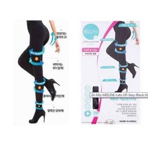 Dr.Miz MIZLINE Let's Hip Up Sexy Black Stocking 100% authentic