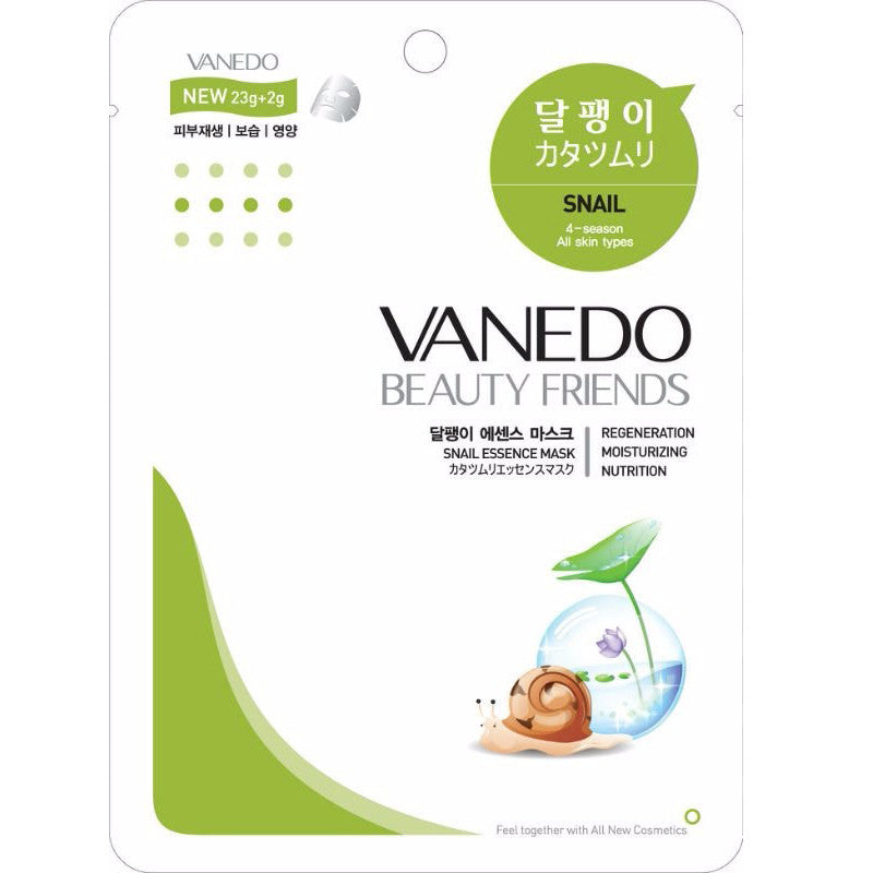 VANEDO BEAUTY FRIENDS Mask Snail Mask Pack 10pcs