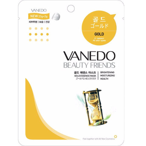 VANEDO BEAUTY FRIENDS Mask Gold Mask Pack 10pcs