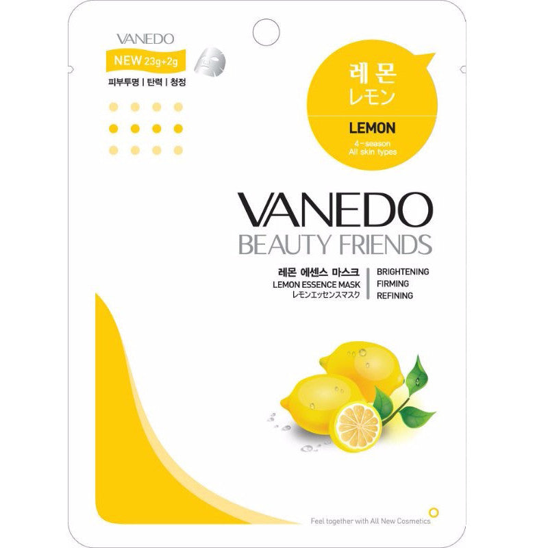 VANEDO BEAUTY FRIENDS Mask Lemon Mask Pack 10pcs