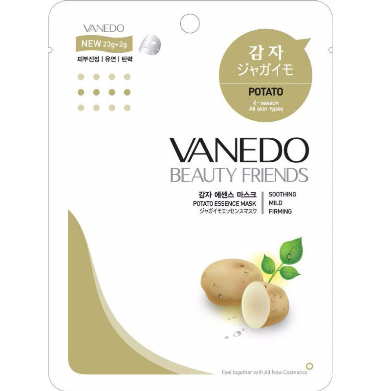VANEDO BEAUTY FRIENDS Mask Potato Mask Pack 10pcs