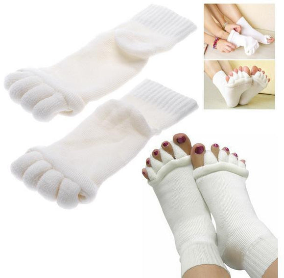 5 Toe Foot Alignment Pain Relief Compression Socks