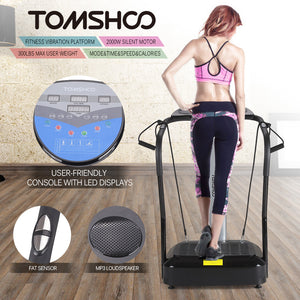 Adjustable Total Body Vibration Machine Fitness Platform Massage Machine Plate