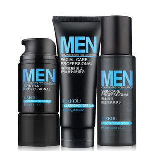 Exfoliating 3Pcs/set Ocean Energy Hydrating Deep Cleansing Conditioner Skincare Just For Men