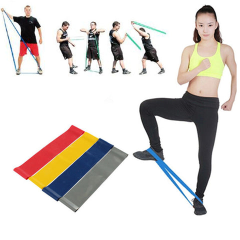 4 New Hot Multi-colored Sport Exercise Resistance Loop Bands