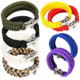 Stainless Steel Shackle Braid Paracord Survival Bracelet (FREE plus Shipping)