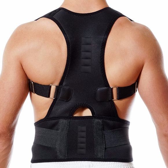 New Magnetic Posture Corrector Neoprene Back Corset Brace | Back Straightener and spine support