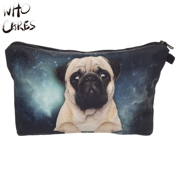 GALAXY PUG COSMETIC TRAVEL BAG ORGANIZER | Portable Make Up Bag Case 3D Print