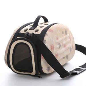 Dog Breeds Collapsible Outdoor Dog Carrier and Travel Shoulder Bag | Foldable Carrier for Small Dogs Puppies and Other Pets.