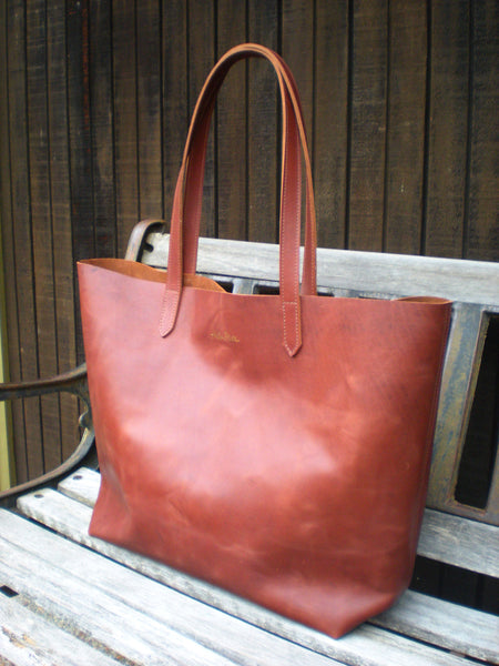 Large Carry All Tote - Whiskey Tan