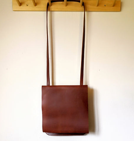 Ready to ship - Slimline Satchel - Whiskey