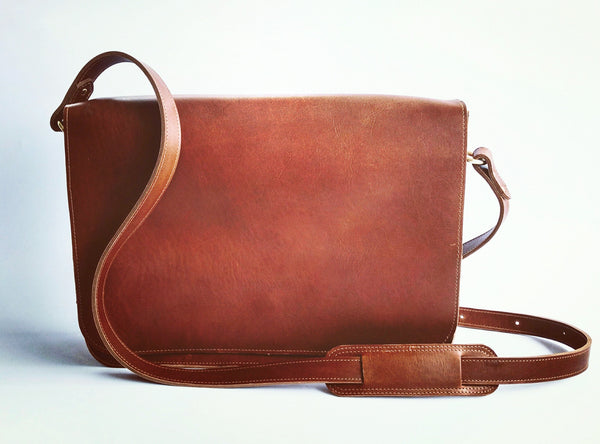 Laptop Satchel - Whiskey Tan