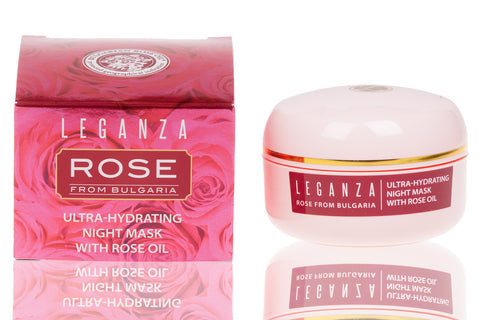 Ultra-Hydrating Night Face Mask with Bulgarian Rose Oil 45 ml 1.5 oz.
