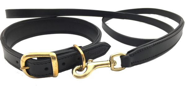 The Vintage Collar & Leash Collection (Liquorice Black)