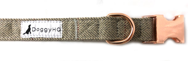 The Tweed Collection Collar - (Fossil Grey)