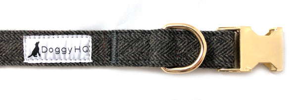 The Tweed Collection Collar - (Shadow Grey)