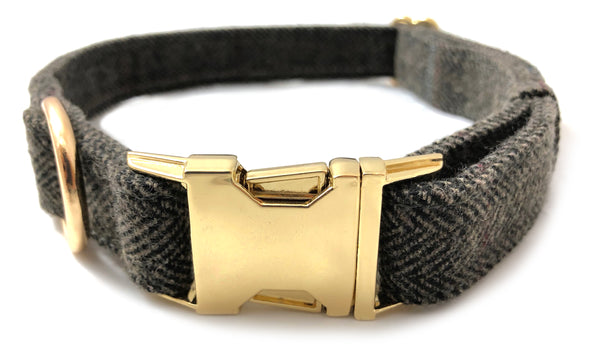 The Tweed Collection Collar - (Slate Grey)