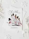 Personalized Snowman family illustration