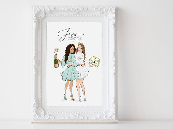 Gift: Bride and bridesmaids propsal