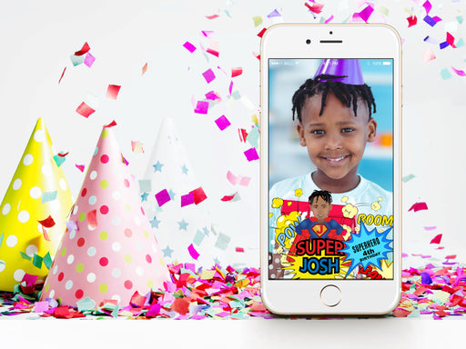 Snapchat Geofilter: Superhero custom illustration