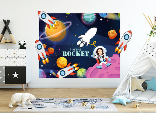 Pin the Rocket | Custom portrait Astronaut