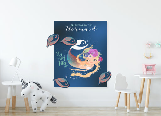 Game | Pin the tail | Mermaid