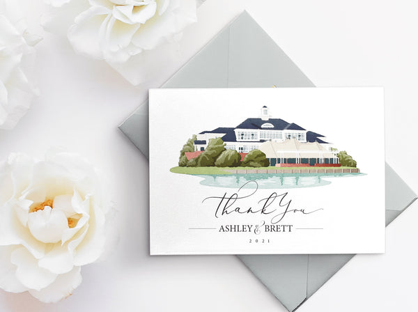 Wedding venue illustration Color