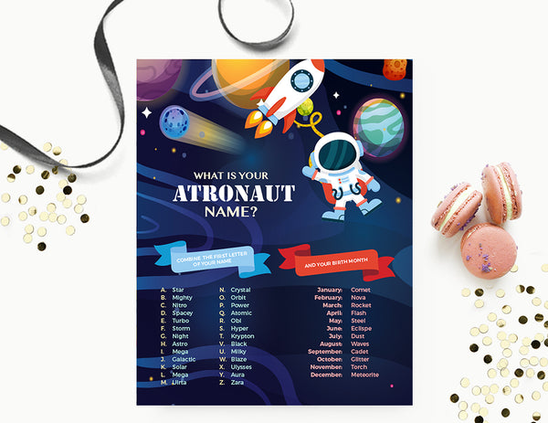 Game| What is your | Astronaut name?