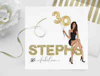 Invitation: Personalised custom Fashion illustration portrait