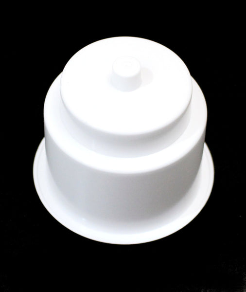 Universal 3-5/8 White Plastic Jumbo Cup Holder with Drain Hole Recessed Drop in Insert Drink Can Holder for Furniture Sofa Poker Table Car Boat Marine RV