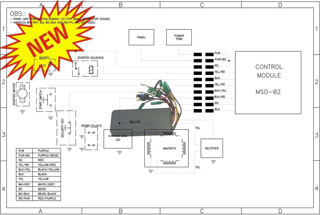sea doo mpem cdi 278000821 278000423 278001135 278000474 ... sea doo spx wiring diagram solenoid