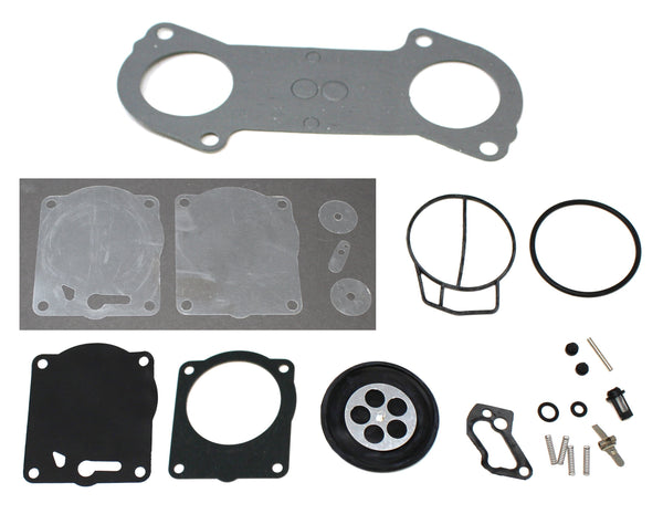 Yamaha Mikuni Super BNI (SBNI) Carb Rebuild Kit with Base Gasket 66E-13556-00-00 Compatible with Yamaha GP XL 800 Carburetor Rebuild Kit 15-004-01