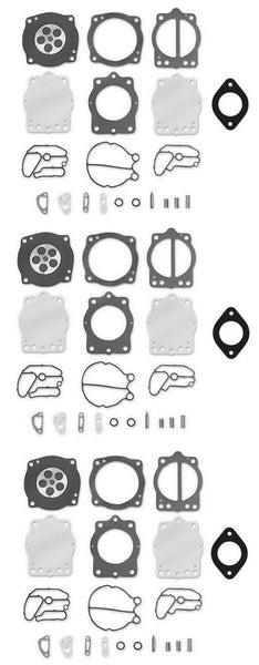 Polaris Keihin Triple Carb Rebuild Kit with Base Gasket 5830043 SL SLX SLTX 1050