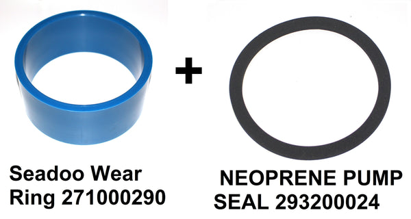 Seadoo Wear Ring 271000290 + 293200024 Neoprene Seal Jetboat Speedster SPX HX