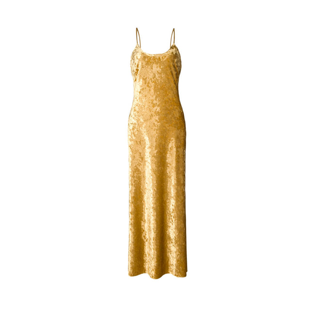 EK Daniel Dress Velvet Gold