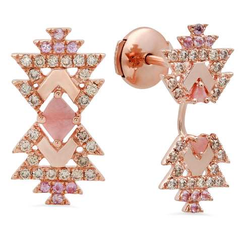 Everlasting Earrings Rose Gold