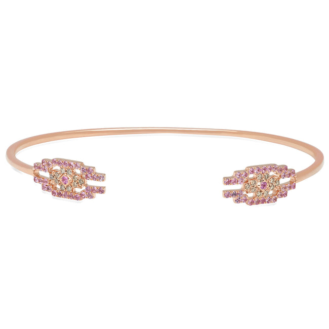 Eyes Cuff Bracelet Rose Gold