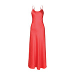 Dyana Silk Slip Dress Red