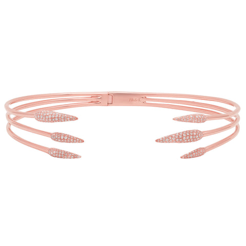 Elodie K Rose Gold Claw Choker